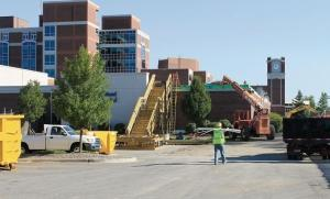Construction crews work to complete additions to Holland Hospital last year. Increasingly, contractors say they're running into capacity challenges, especially among the ranks of West Michigan's subcontractors, which have been slow to add people after the recession. Some executives fear a workforce shortage could lengthen project timelines this year.