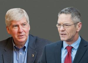Gov. Rick Snyder and U.S. Congressman Mark Schauer