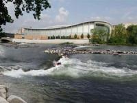 A rendering of the proposed recreational enhancements to the Grand River.