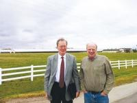 Martin Olde Monnifkhof, left, and Tim Den Dulk (Den Dulk Dairy Farms)