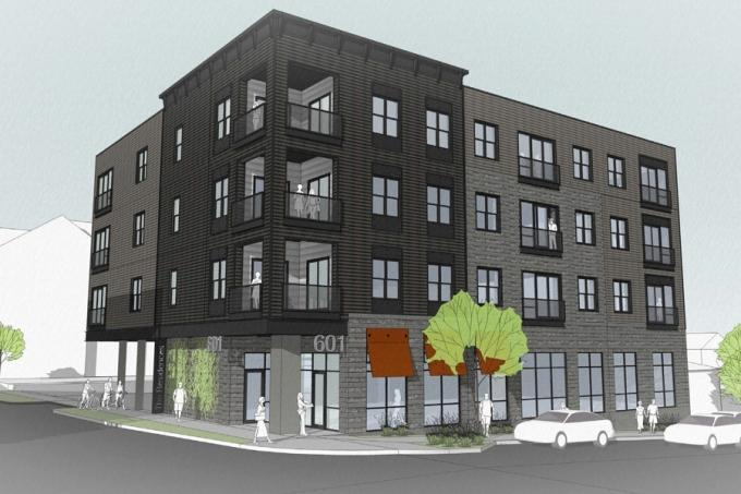 Apartment Building With Retail Space