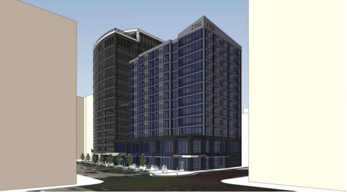 Orion Real Estate Solutions, an offshoot of Orion Construction Co. Inc., now plans for a 160-room Hyatt Place hotel at its 150 Ottawa development. Previously, the company said it would offer 123 apartments at the site. Concept Design served as the architect on the project.