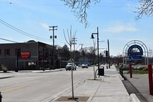 Muskegon's Lakeside Business District.