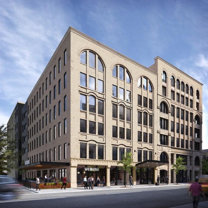 Rendering of CWD Real Estate Investment's 50 Monroe Avenue project