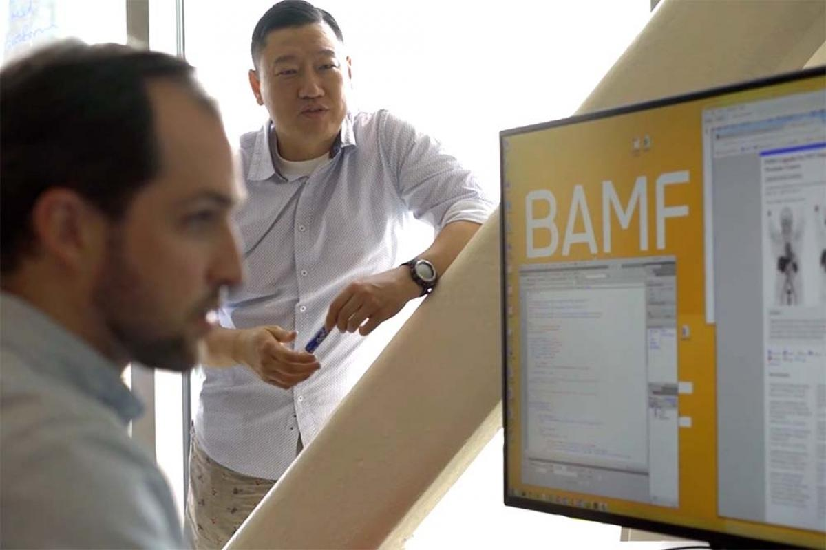 BAMF Health co-founder and CEO Anthony Chang, pictured with Chief Technology Officer Anderson Peck, says getting into the MiSpringboard program that offers startups free legal service helped the company dramatically.