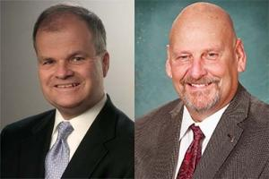 "Left: James ""Chip"" Falahee, right: Sen. Curtis VanderWall"