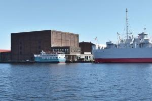 City officials in Muskegon are studying a plan that would swap the city-owned Fisherman's Landing for the Third Street Street dock area close to downtown Muskegon. The move would allow The Mart Dock to consolidate its commercial shipping operations to the east end of Muskegon Lake.