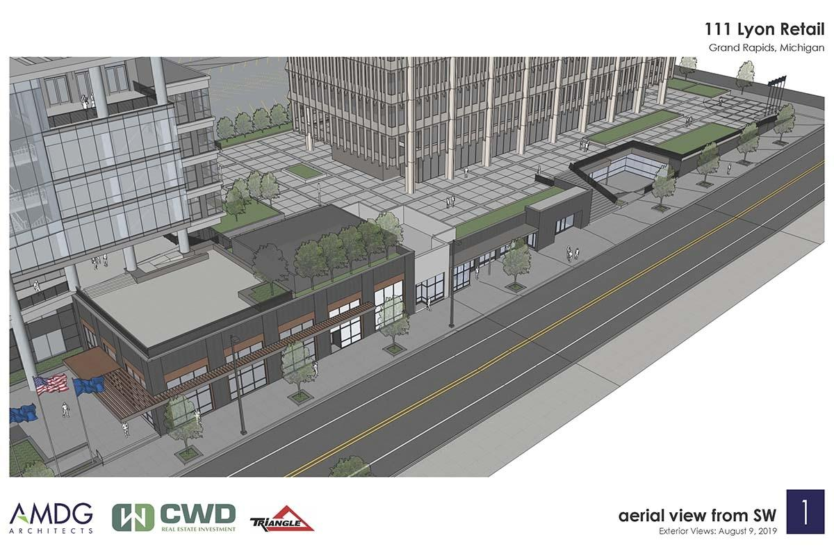 CWD to add street-level commercial space along Lyon Street in downtown Grand Rapids