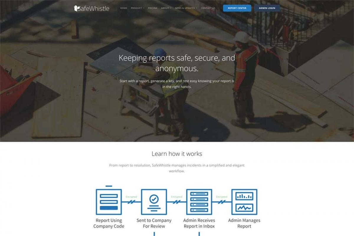 Grand Rapids-based SmartWhistle LLC is offering a technology platform for employers that allows employees to anonymously report issues to management. The software tracks the issues through the investigation and resolution.