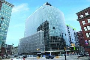 The Warner Building in downtown Grand Rapids is fully leased except for two ground-floor retail spaces, according to developer Orion Real Estate Solutions.