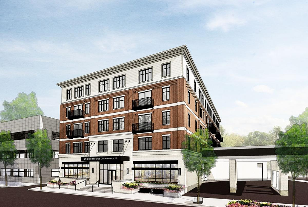 Rendering of the Stockbridge Apartments project/