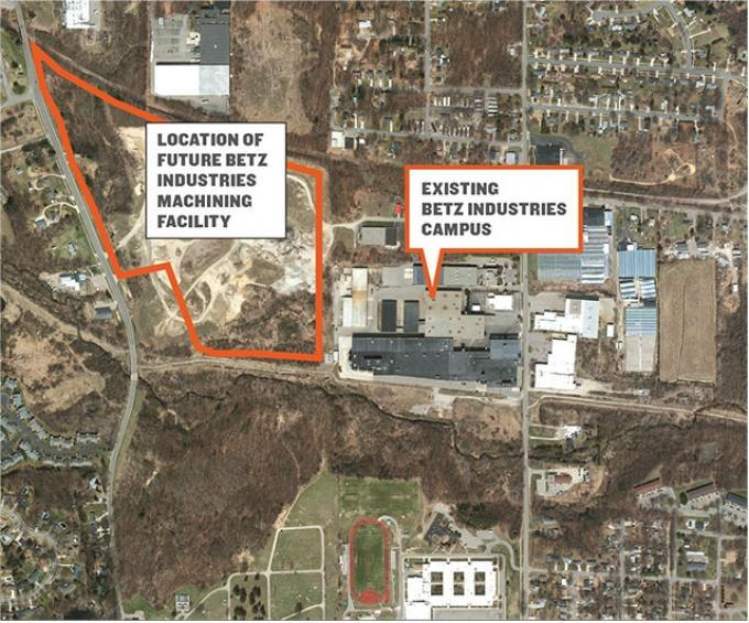 An affiliate of Betz Industries acquired nearly 52 acres of property that abuts its existing campus on Bristol Avenue in Walker. The property included a vacant house and the former Triick Sand Pit.