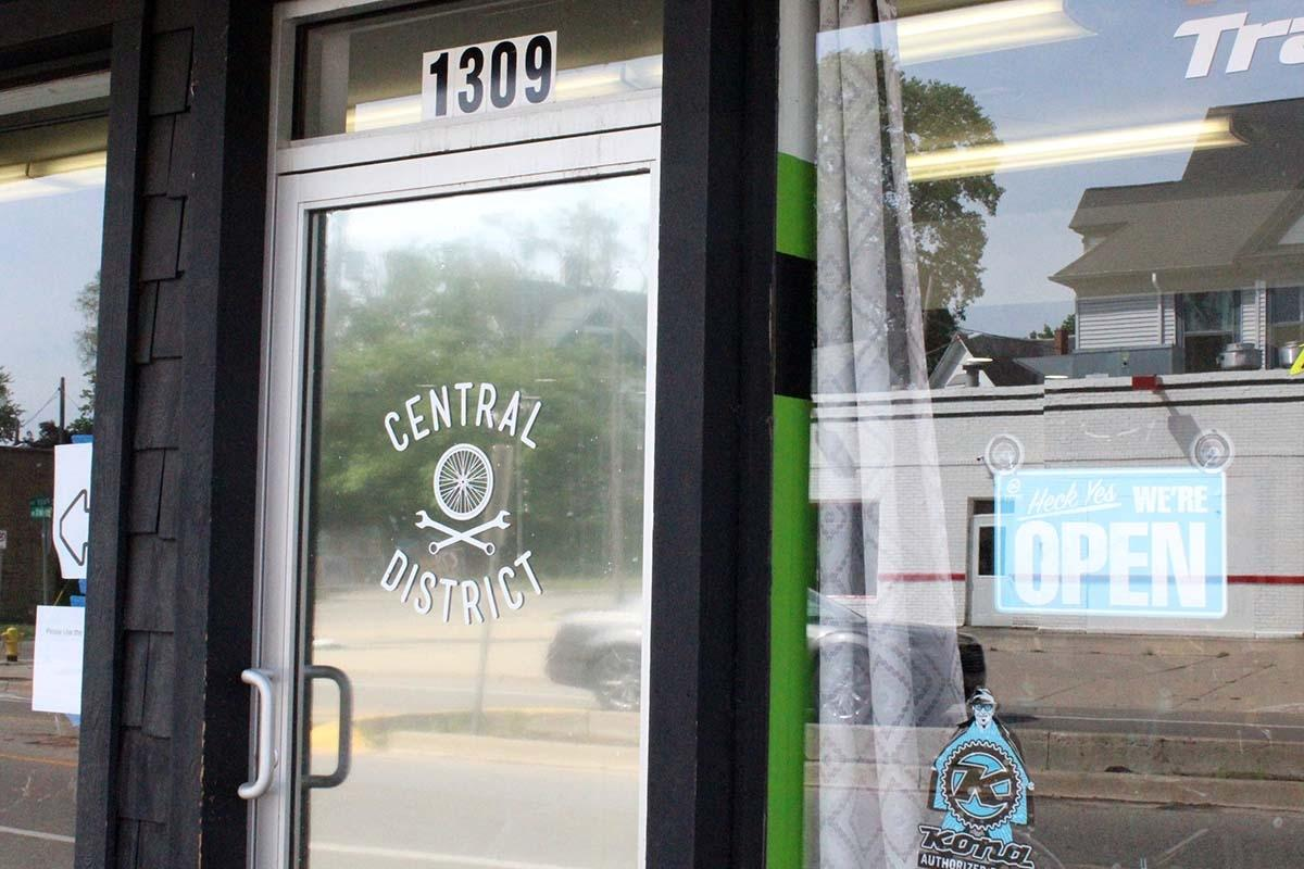 Central District Cyclery is located at 1309 Plainfield Ave. NE in Grand Rapids' Creston Neighborhood.