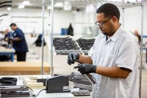 Workers at Ford Motor Co. are making medical shields to help health systems address protective gear shortages.
