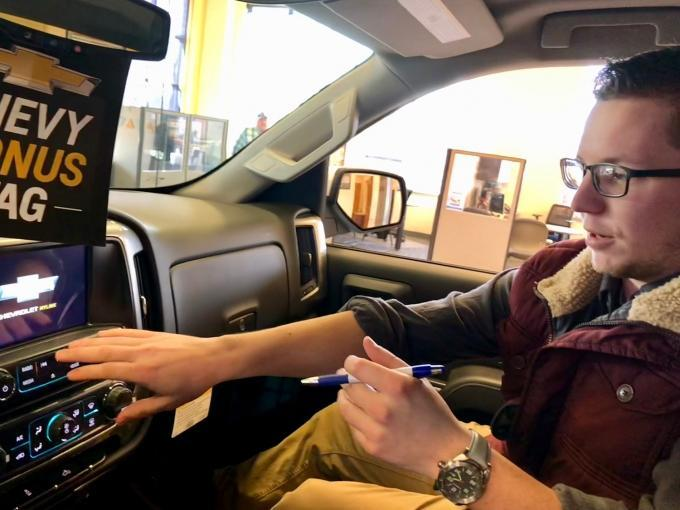 Sparta Chevrolet brought on technology expert Zach Doerr to help train customers to use all the technology and infotainment systems in their new cars.