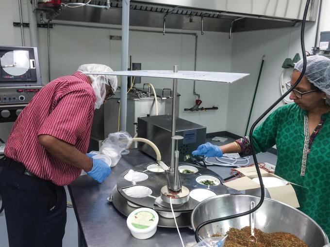 Tenants at The Starting Block, an incubator focused on food production and located in Hart, work with commercial-grade equipment to produce their products. The Starting Block includes a full commercial kitchen with separate specialty facilities registered with the USDA to produce meat, cheese and other animal products.