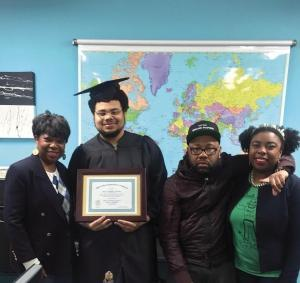 Noble Johnson earned a GED through a free program offered by Heartside Ministry in Grand Rapids.