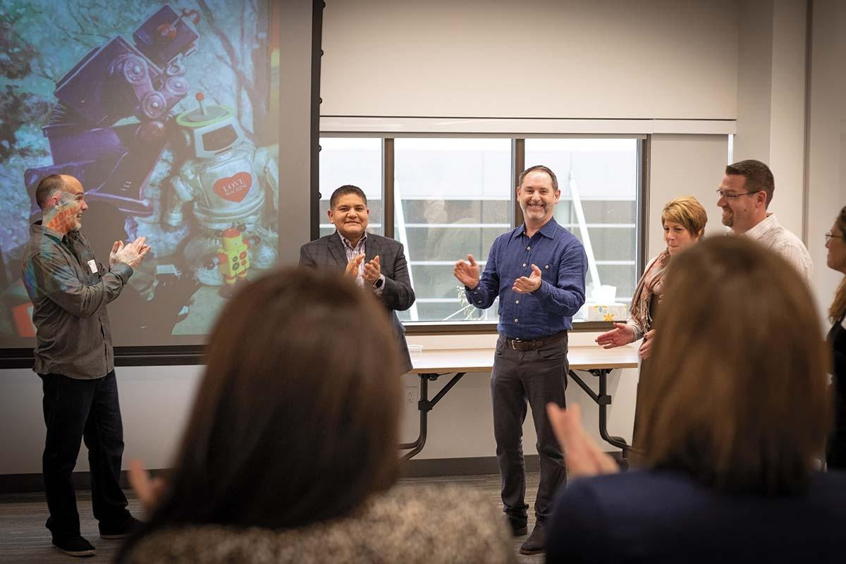The Grand Rapids Area Chamber of Commerce recently brought in The Comedy Project for an improv training workshop for its members.