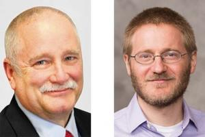Left: Jim Robey, W.E. Upjohn Institute for Employment Research, right: Gabe Ehrlich, University of Michigan Research Seminar in Quantitative Economics