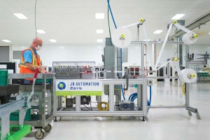 Esys Automation, a division of Holland-based JR Automation, worked with General Motors to deploy a manufacturing line to produce facemasks from start to finish in six days.