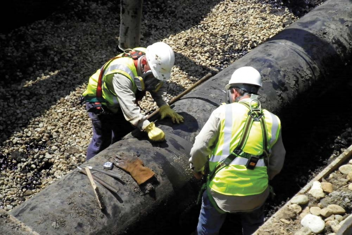 Gov. Gretchen Whitmer's proposed budget calls for $1.4 million for a three-year project to catalog the state's hazardous materials pipelines. While the state has 3,500 miles of pipelines, the Department of Natural Resources says it only has an inventory of 645 miles. The agency said the project is needed to help deal with any future issues, such as the Enbridge pipeline oil spill in the Kalamazoo River near Marshall, shown here.
