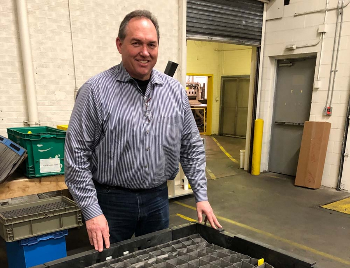 Calvin Kortman was one of six founders of Holland-based ITB Packaging LLC, which developed a system of glued fabric packaging dividers for use in shipping small parts. The company just completed developing its proprietary production equipment and plans to follow customers by expanding outside the U.S.