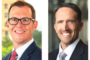 Left: Mike Brown of Charter Capital Partners LLC, right: Scott Hill of Varnum LLP