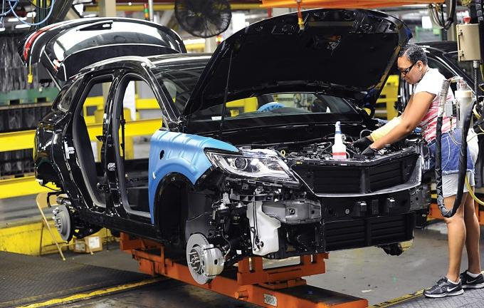Ford's decision to keep production of its Lincoln MKC in Louisville, above, was seen by industry insiders as an olive branch to the incoming Trump administration after a contentious campaign.