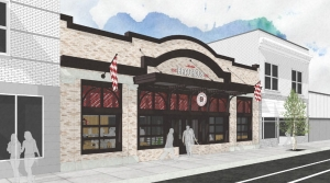 Cedar Springs Brewing plans a 2020 opening for Küsterer Brauhaus, a German-style beer hall at 642 Bridge Street NW in Grand Rapids shown in this rendering from Integrated Architecture.
