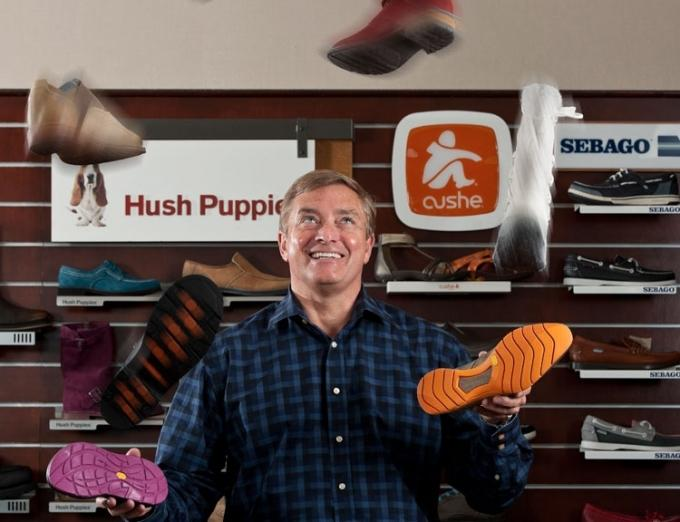 """Wolverine World Wide Chairman, CEO and President Blake Krueger said the company has been """"very active"""" in looking for deals to add new brands to its portfolio."""
