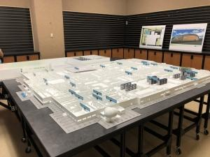 A model shows expansions as part of Pfizer's planned $465 million investment at its manufacturing campus in Portage.