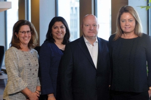 Fox Motors' team, from left to right: Susan Howe, vice president of finance; Monica Sekulich, senior vice president and general counsel; Jerry Moore, division director–Fox Motors West Michigan; Diane Maher, president/COO.