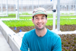 """Revolution Farms built an aquaponics operation in Caledonia to grow lettuce and raise tilapia to serve West Michigan customers seeking local food options. CEO Trip Frey said that local consumers """"want to buy healthy, local products, and that's exactly what Revolution Farms is doing."""""""