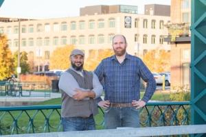 Edwin Collazo and David Petroelje, the owners of City Built Brewing.