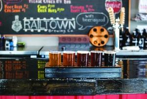 A flight of beers from Railtown Brewing Co. in Dutton.