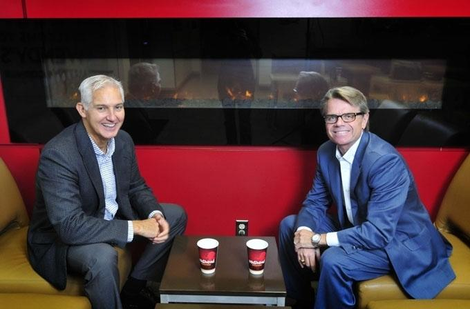 CFO and COO Gary Rose, left, and CEO Robert Schermer, Jr., right, of Meritage Hospitality.
