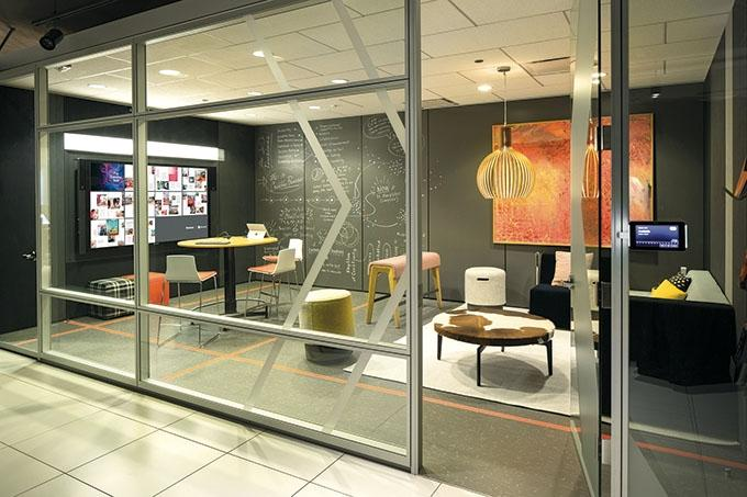 """Like many office furniture OEMs, Steelcase has started to offer more product options that encourage creativity in the workplace. """"It's really trying to move away from furniture that's designed to support process work and moving to furniture that supports creative work,"""" said President and CEO Jim Keane."""