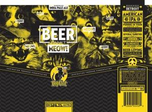 """BarFly Ventures wants to expand the HopCat brand to its own packaged beers. The Grand Rapids-based bar and restaurant operator has partnered with contract brewery Brew Detroit LLC to manufacture and distribute the HopCat Beer Right Meow American India Pale Ale. The beverage could hit stores, bars and restaurants statewide via Imperial Beverage """"in the next few months."""""""