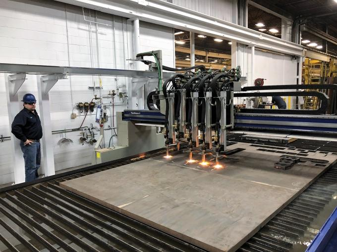 Genzink Steel Supply and Welding Co. invested $500,000 in a new metal-cutting machine at its Holland plant. The equipment is more capable and efficient than its former cutting machine, allowing the company to improve its throughput.