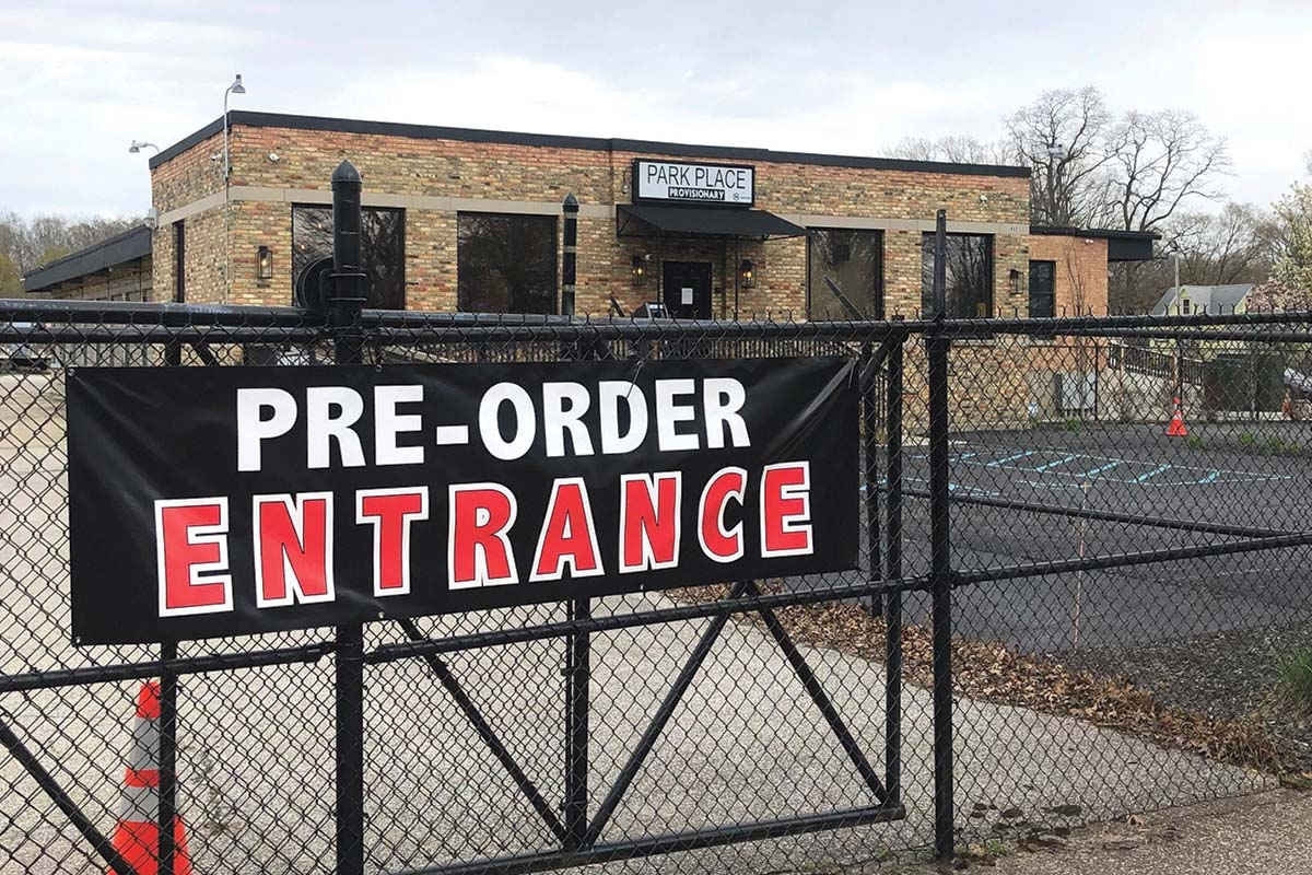 Muskegon's Park Place Provisionary implemented outdoor curbside pick-ups for marijuana customers.