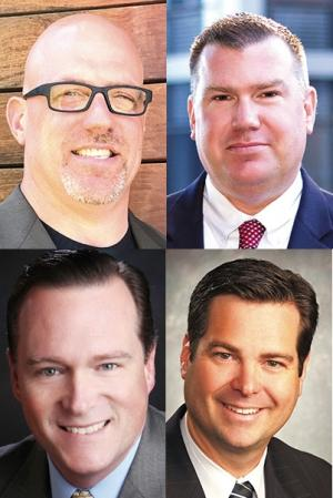(Clockwise from top left): Mike Teeter, Invictus LLC; Jon Siebers, Rhoades McKee PC; Randy Rua, NuVescor Group LLC; and John Kerschen, Charter Capital Partners.
