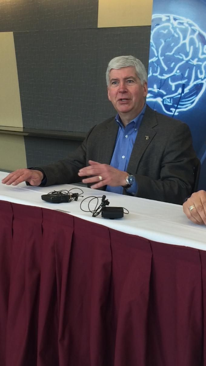 Gov. Snyder discusses top priorities at recent press conference