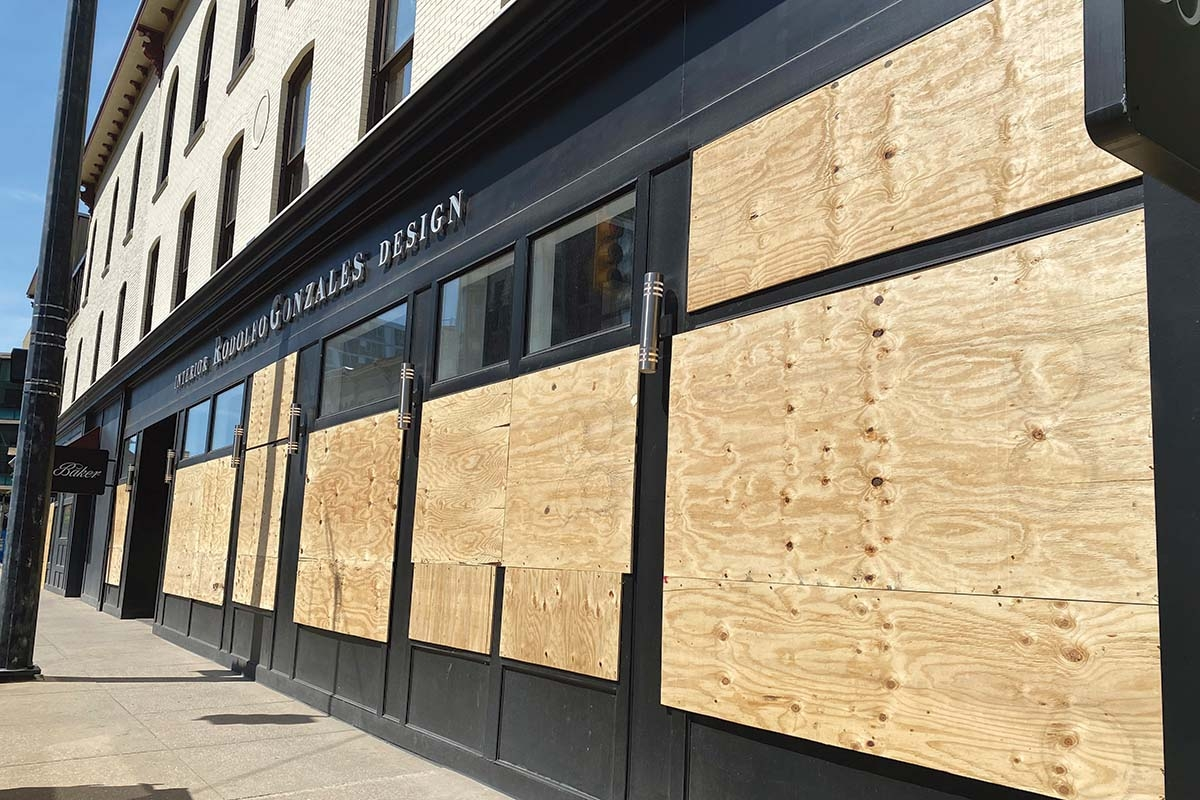 About 100 businesses in downtown Grand Rapids suffered some sort of damage after peaceful protests erupted in violence on May 30 and 31.