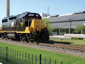 The Kent County Circuit Court ruled against plaintiffs Norfolk Southern and Grand Elk Railroad, whose train is pictured here, in a lawsuit in which they sought an injunction against CSX over a disputed 3.3-mile section of track in Grand Rapids.
