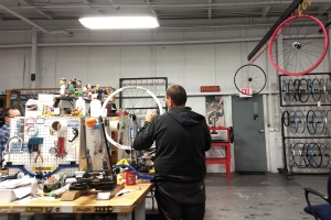 MADE IN MICHIGAN: Grand Rapids-based Velocity USA Inc. manufactures high-end bicycle rims from its 16,000-square-foot plant. The company originally got its start when Michigan native Tom Black started making water bottle cages for bicycles while living in Australia and asked his brother, John Black, to head up U.S. sales. As U.S. sales increased, the company later split its operations between Florida and Grand Rapids, before consolidating in West Michigan in 2016. The company employs 15 people and makes 40,000 bicycle rims annually.