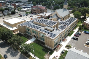 The St. James Apartments and Townhomes project in Grand Rapids included a 308-panel solar installation completed by Solar Winds Power Systems LLC.