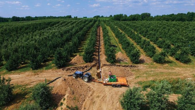 Schweitzer Orchards in Sparta uses drones to photograph fields and figure out the accurate placement of drainage tiles.