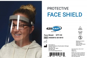 Goodwill Industries of Southwestern Michigan is producing face shields under the 420 East brand.