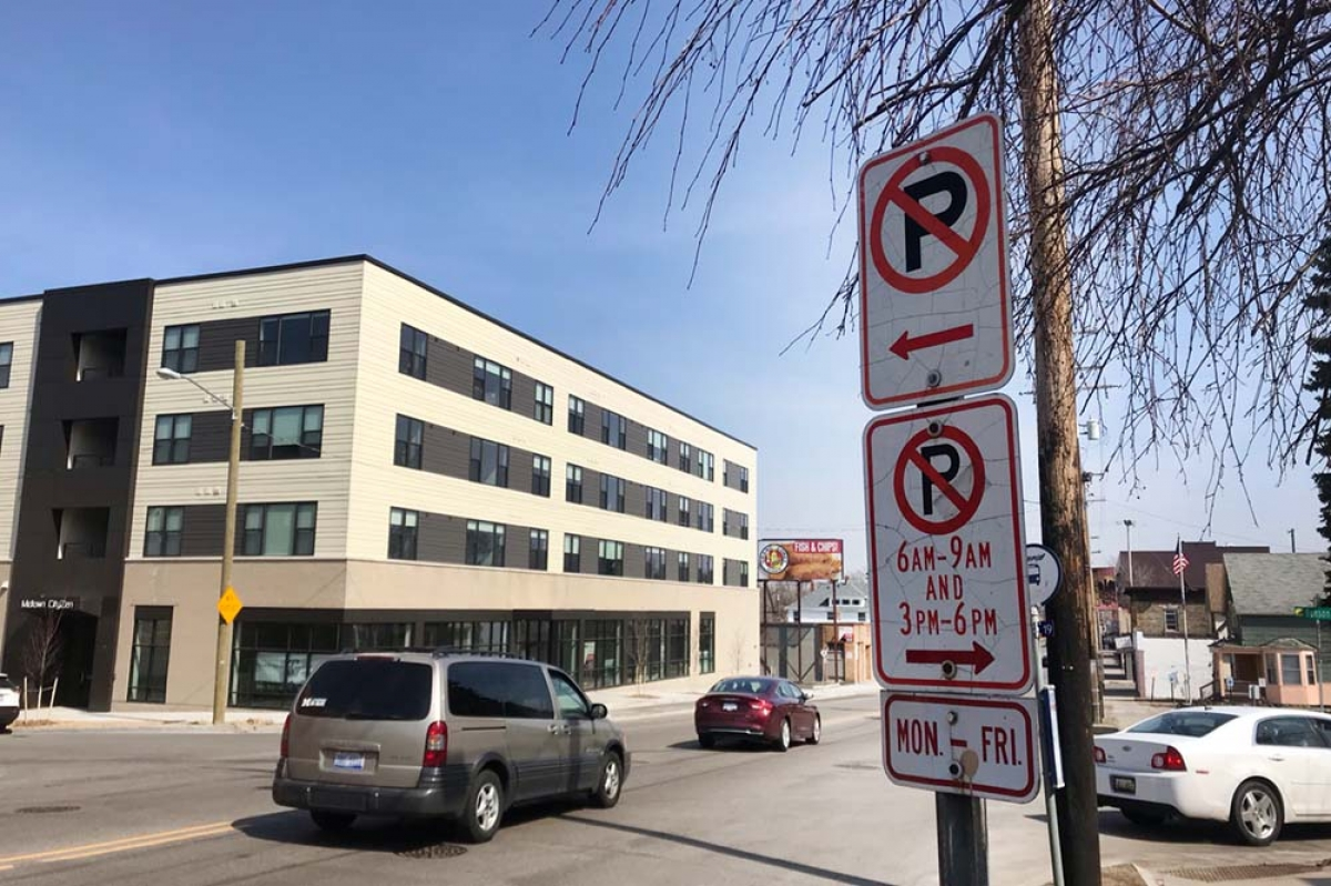 Traffic planners will implement a road diet on a section of Michigan Street from College Avenue to Eastern Avenue east of downtown Grand Rapids. The roadway will be converted from four traffic lanes to one travel lane in either direction and a center left-turn lane, plus a parking lane on the south side of the road. Currently, parking is only allowed in the outside lanes during off peak hours.