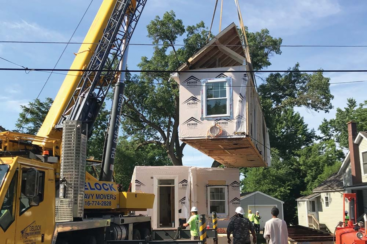 Kent County Land Bank rebranded as Innova-Lab in the summer of 2018 as a pivot toward the construction of modular housing. Innova-Lab's work is expected to continue after the dissolution of the Land Bank.